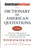 Dictionary of American Quotations