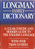 Longman Family Dictionary